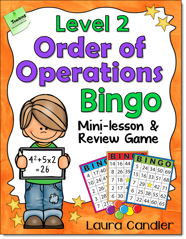 Order of Operations Bingo Level 2