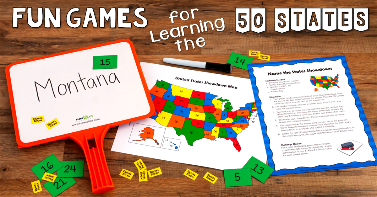 Fun Games for Learning the 50 States
