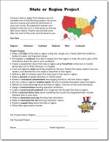 State or Regions Project Description freebie