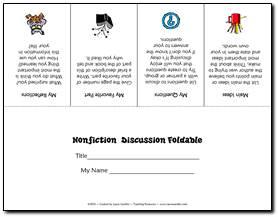 Nonfiction Discussion Foldable