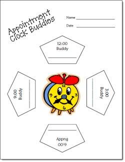 Appointment Clock Buddies Freebie
