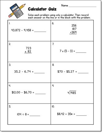 Test your students' calculator skills with this free quiz!