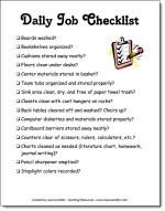 Daily Job Checklist
