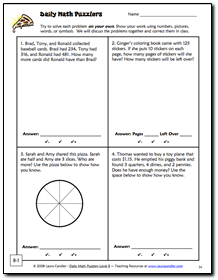 Daily Math Puzzlers Level B Sample