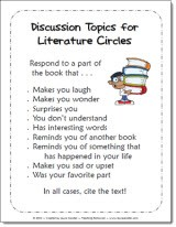 Literature Circles Discussion Prompts