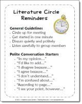 Literature Circles Reminders