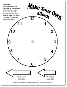 Make Your Own Clock Pattern