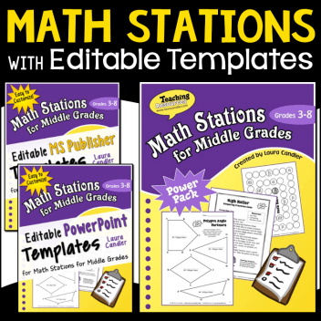 Math Stations with Editable Templates