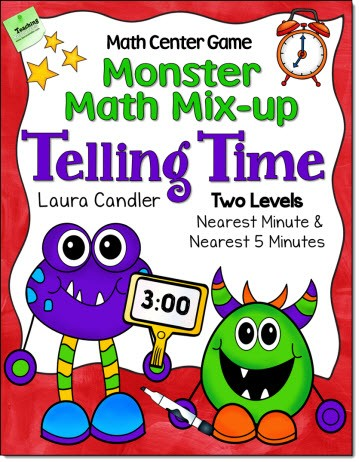 Monster Math Mix-up: Telling Time