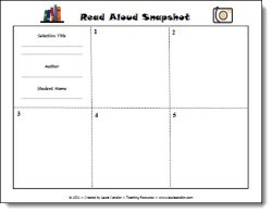 Read Aloud Snapshot Graphic Organizer