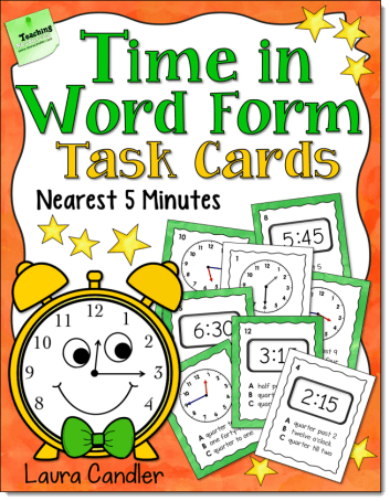 Time in Word Form Task Cards