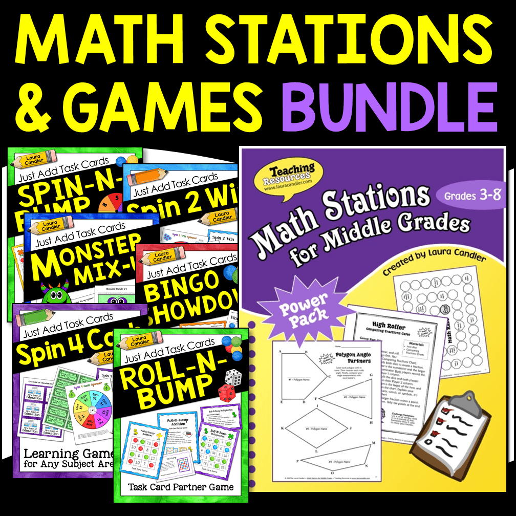 Math Stations and Games Bundle